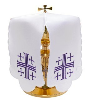 "Ciborium veil ""Jerusalem Crosses"" SP-09-F"