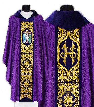 "Gothic Chasuble ""Crucifixion"" 588-AC25"