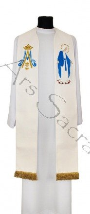 """Gothic stole """"Our Lady of Grace"""" SH23-K"""