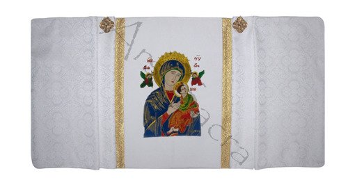 """Humeral Veil """"Our Lady of Perpetual Help"""" Wh21-B25"""