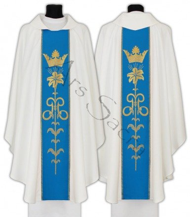 Marian Gothic Chasuble 080-BN
