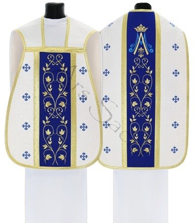 Chasuble romaine mariale R537-BN25