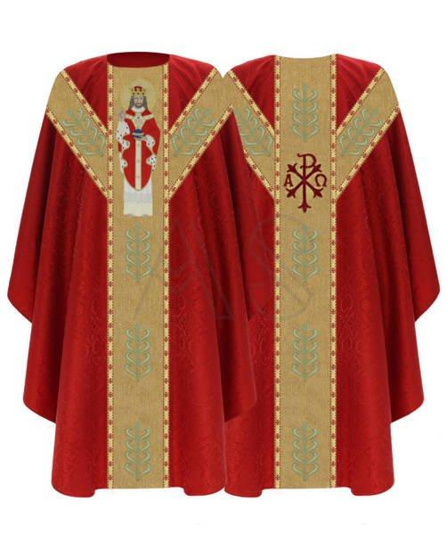 """Casulla semigótica """"Cristo el rey"""" GY466-C25"""